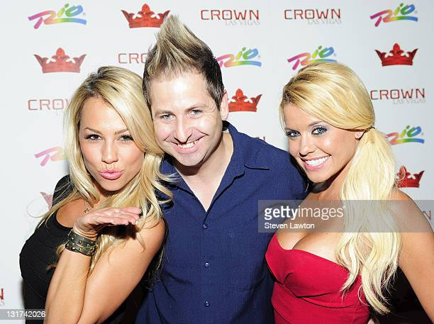 Playboy radio's Jessica Hall Director of Marketing for Lolitas Cantina Tequila Bar Dustin Loose and Playboy radio's Brandie Moses arrive to Host an...