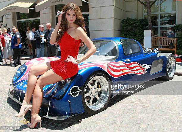 Playboy's 2010 Playmate of the Year Hope Dworaczyk attends the unveiling of the all new Maxximus GForce automobile at The Peninsula Beverly Hills on...