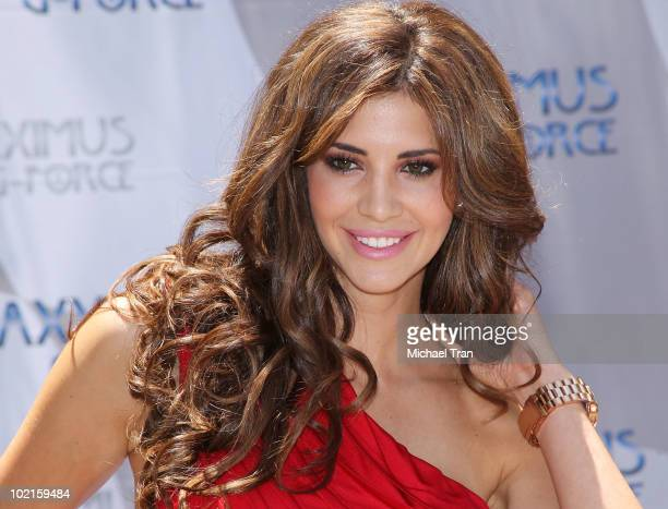 Playboy's 2010 Playmate of the Year Hope Dworaczyk attends the unveiling of the all new Maxximus G Force street legal supercar held at Peninsula...