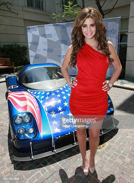 Playboy's Playmate of the Year Hope Dworaczyk attends the unveiling of the all new Maxximus GForce automobile at The Peninsula Beverly Hills on June...