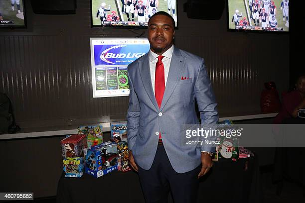 NFL playe Jeff Cumberland attends the Holiday Toy Drive at Suite 36 on December 22 2014 in New York City