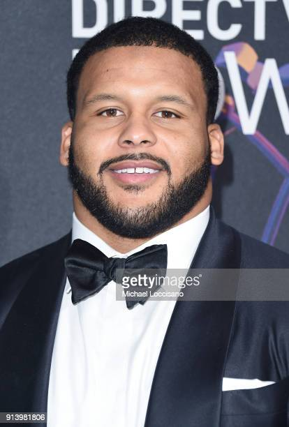 NFL player Aaron Donald attends the 2018 DIRECTV NOW Super Saturday Night Concert at NOMADIC LIVE at The Armory on February 3 2018 in Minneapolis...