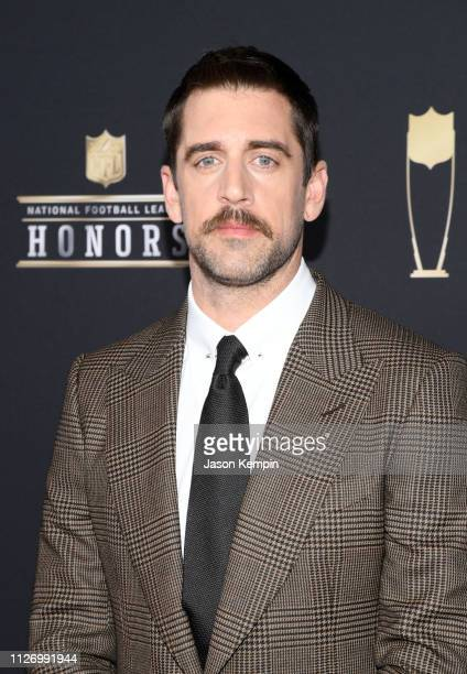 Player Aaron Rodgers attends the 8th Annual NFL Honors at The Fox Theatre on February 02, 2019 in Atlanta, Georgia.