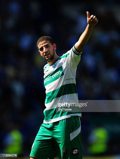 QPR player Adel Taarabt acknowledges the fans at the end of the npower Championship game between Cardiff City and Queens Park Rangers at Cardiff City...
