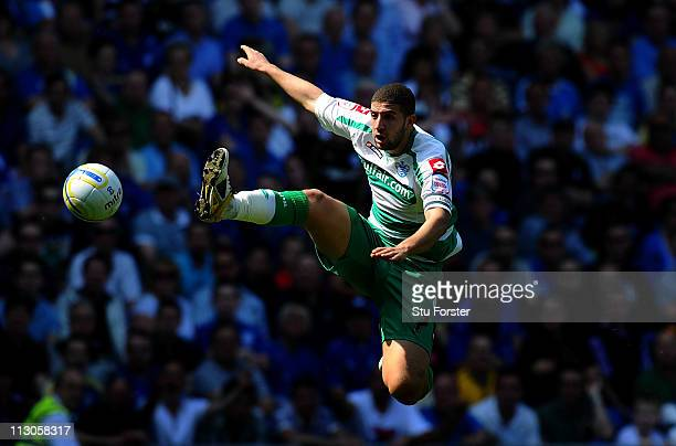 QPR player Adel Taarabt in action during the npower Championship game between Cardiff City and Queens Park Rangers at Cardiff City Stadium on April...
