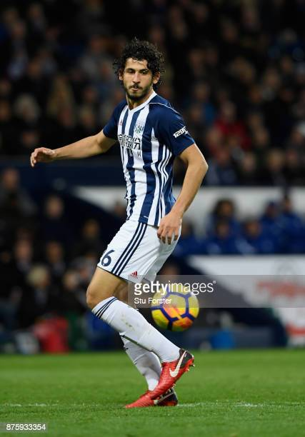 WBA player Ahmed Hegazi in action during the Premier League match between West Bromwich Albion and Chelsea at The Hawthorns on November 18 2017 in...