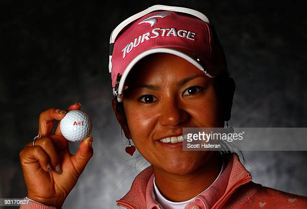 LPGA player Ai Miyazato of Japan poses for a portrait prior to the start of The LPGA Championship at the Houstonian Golf and Country Club on November...