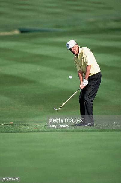 SPGA player Al Geiberger drives a ball at the 1994 Mercedes Championship at La Costa Resort and Spa