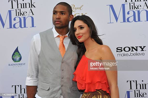 NBA Player Al Harford and Amelia VegaHarford attends Atlanta Premiere of Think Like a Man at Regal Atlantic Station on April 3 2012 in Atlanta Georgia