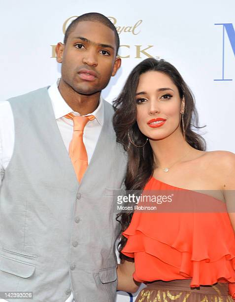 NBA Player Al Horford and Amelia VegaHarford attends Atlanta Premiere of Think Like a Man at Regal Atlantic Station on April 3 2012 in Atlanta Georgia
