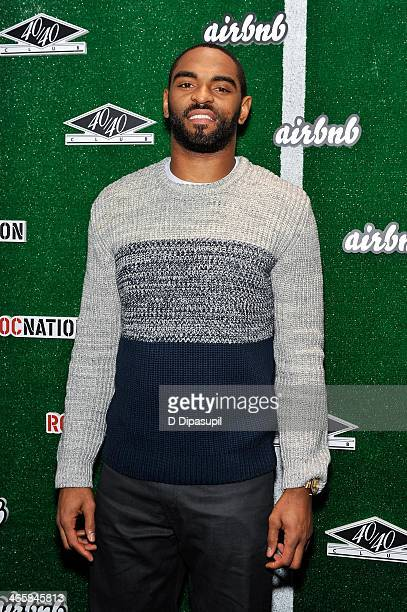 NBA player Alan Anderson attends the Airbnb Super Suite at Roc Nation Sports Airbnb's Welcome To New York event at 40 / 40 Club on January 29 2014 in...
