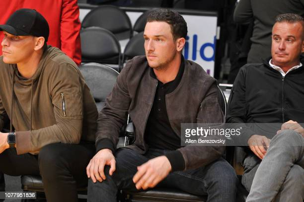 MLB player Alex Bregman attends a basketball game between the Los Angeles Lakers and the San Antonio Spurs at Staples Center on December 05 2018 in...