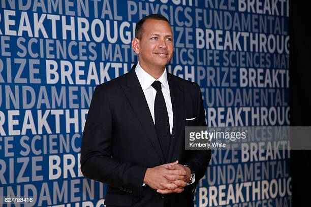 MLB player Alex Rodriguez attends the 2017 Breakthrough Prize at NASA Ames Research Center on December 4 2016 in Mountain View California