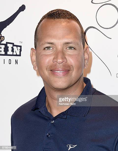 MLB player Alex Rodriguez attends the Roc Nation Summer Classic Charity Basketball Tournament at Barclays Center of Brooklyn on July 21 2016 in New...