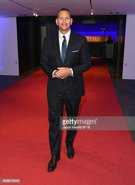 MLB player Alex Rodriguez attends the Vanity Fair Super Bowl Party hosted by Graydon Carter Jon Bon Jovi Honors Super Bowl 50 Host Committee 50 Fund...