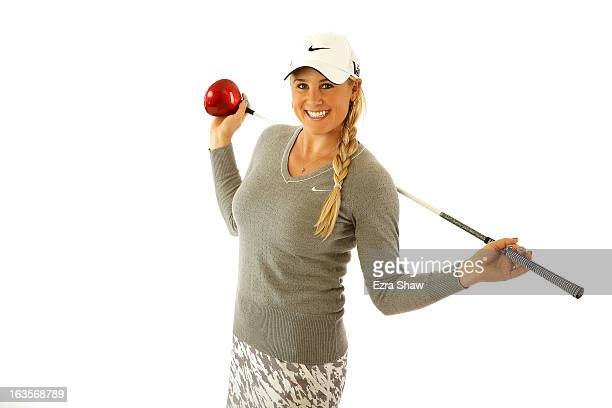 LPGA player Amanda Blumenherst poses for a portrait prior to the start of the RR Donnelley Founders Cup at the JW Marriott Desert Ridge Resort on...