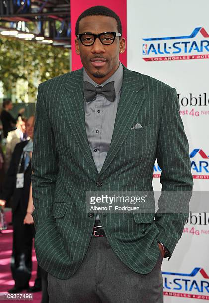 NBA player Amar'e Stoudemire arrives to the TMobile Magenta Carpet at the 2011 NBA AllStar Game on February 20 2011 in Los Angeles California