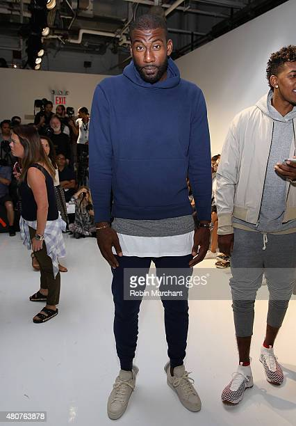 Player Amar'e Stoudemire attends the John Elliott CO Show during New York Fashion Week Men's S/S 2016 at Skylight Clarkson Sq on July 15 2015 in New...