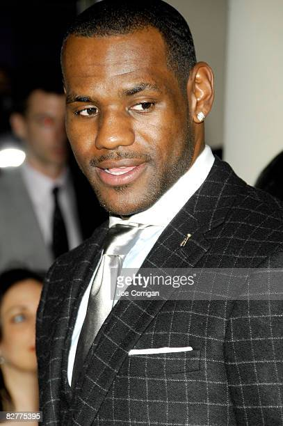 Player and member of the 2008 USA gold medal basketball team LeBron James attends a private cocktail party and shopping event at the Ralph Lauren...
