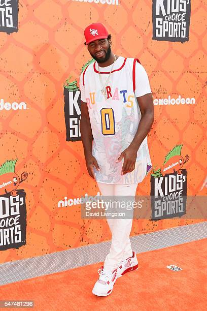 NBA player Andre Drummond arrives at the Nickelodeon Kids' Choice Sports Awards 2016 at the UCLA's Pauley Pavilion on July 14 2016 in Westwood...