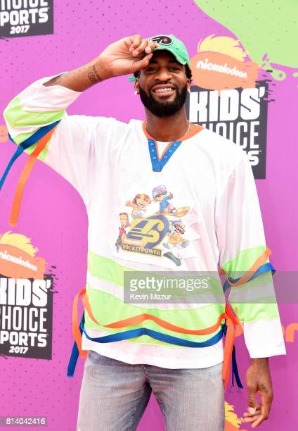 NBA player Andre Drummond attends Nickelodeon Kids' Choice Sports Awards 2017 at Pauley Pavilion on July 13 2017 in Los Angeles California