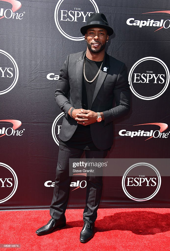 NFL player Andrew Hawkins attends The 2015 ESPYS at Microsoft Theater on July 15, 2015 in Los Angeles, California.