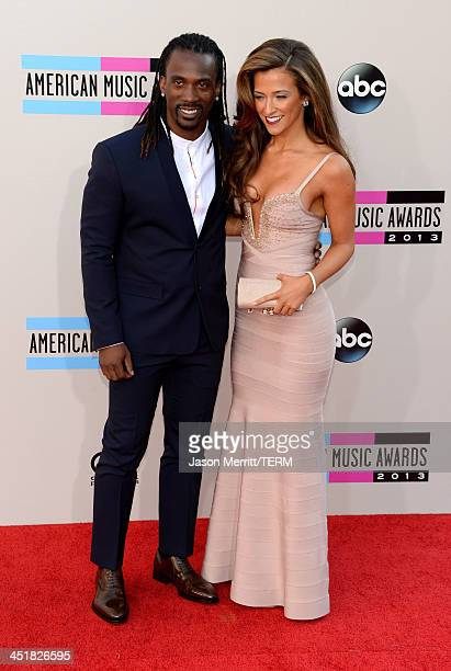 MLB player Andrew McCutchen attends the 2013 American Music Awards at Nokia Theatre LA Live on November 24 2013 in Los Angeles California