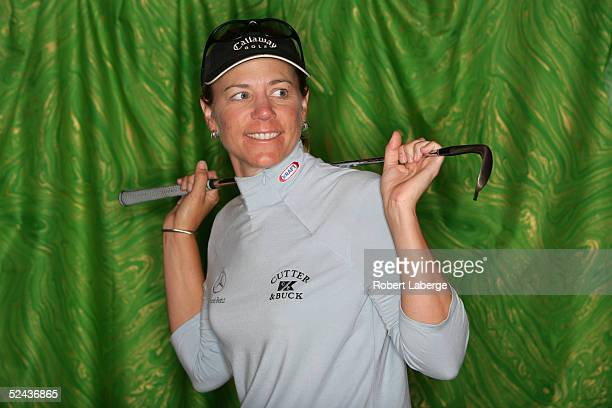 LPGA player Annika Sorenstam of Sweden poses for a portrait prior to the start of the Safeway International at Superstition Mountain Golf and Country...