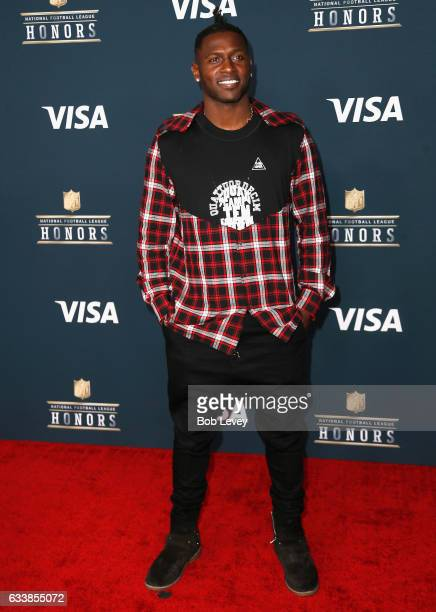 NFL player Antonio Brown attends 6th Annual NFL Honors at Wortham Theater Center on February 4 2017 in Houston Texas