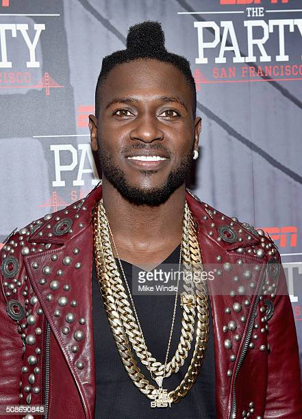 NFL player Antonio Brown attends ESPN The Party on February 5 2016 in San Francisco California