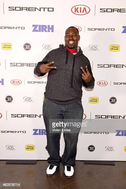 NFL player Arthur Jones attends the Kia Luxury Lounge presented by ZIRH at the Scottsdale Center for Performing Arts on January 31 2015 in Scottsdale...