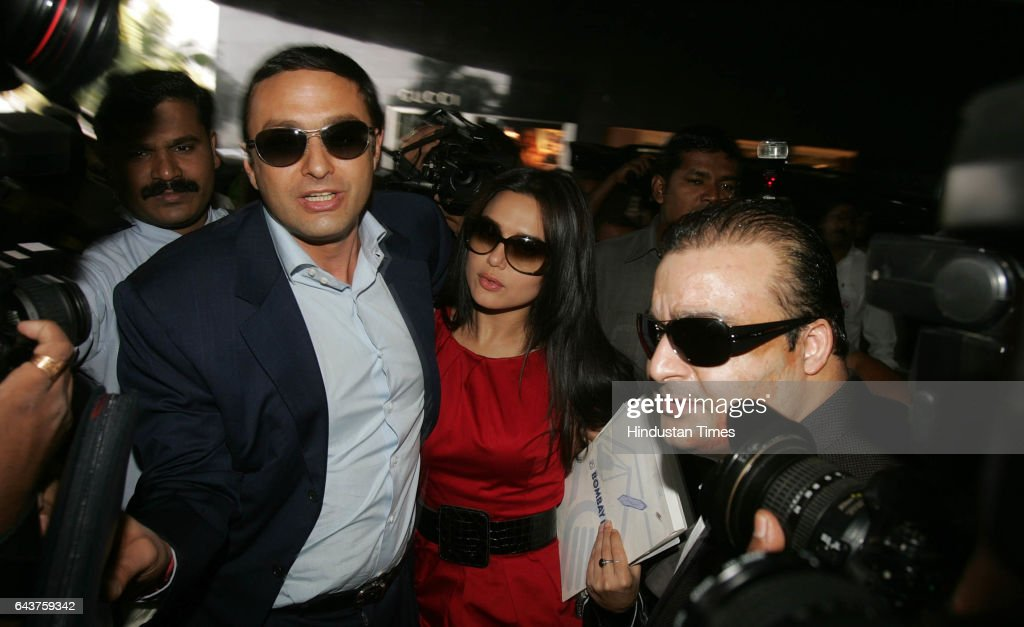 Player Auction NESS WADIA AND PREITY ZINTA ARRIVE FOR THE IPL PLAYER`S AUCTION AT HILTON TOWER
