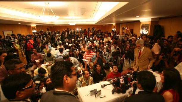 Player Auction Priety Zinta addressing media during IPL Players` auction at Hilton Tower on Wednesday
