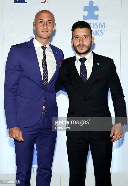 MLS player Aurelien Collin attends Lead Off For A Cure Autism Speaks and Major League Baseball join forces at The Metropolitan Museum Of Art on May 9...