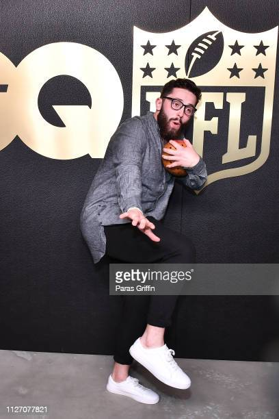 Player Baker Mayfield attends GQ 2019 NFL Honors After Party at Gallery 874 on February 02 2019 in Atlanta Georgia