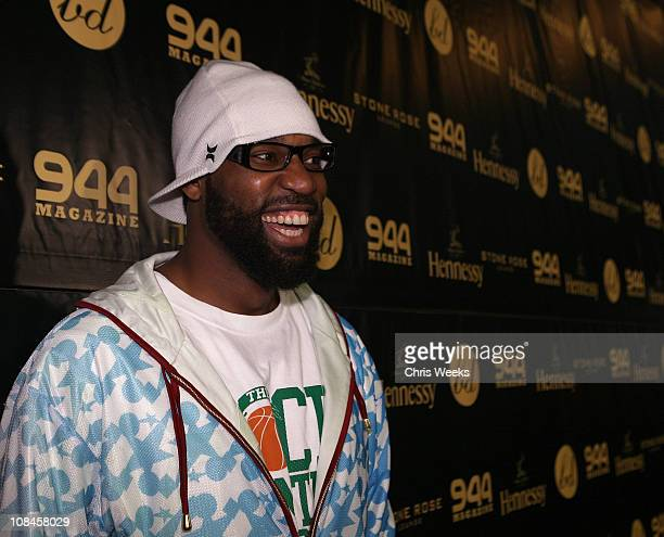 NBA player Baron Davis attends a party for his birthday at Stone Rose Lounge on March 22 2008 in Beverly Hills CA