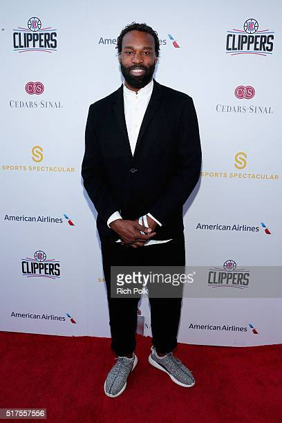 NBA player Baron Davis attends the CedarsSinai Sports Spectacular at W Los Angeles – West Beverly Hills on March 25 2016 in Los Angeles California