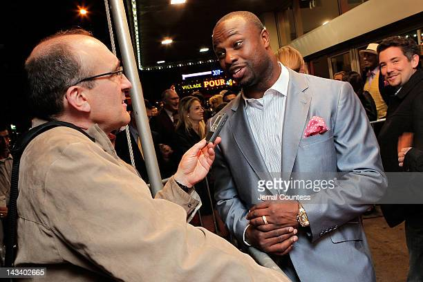 NFL player Bart Scott attends the Broke Premiere during the 2012 Tribeca Film Festival at the AMC Village 7 on April 25 2012 in New York City