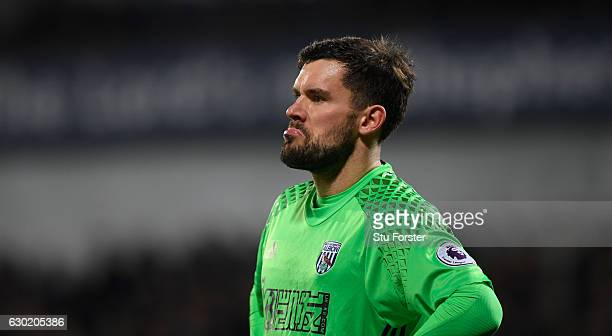 WBA player Ben Foster in action during the Premier League match between West Bromwich Albion and Manchester United at The Hawthorns on December 17...