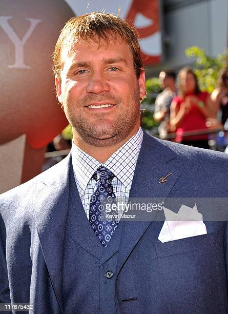 NFL player Ben Roethlisberger arrives on the red carpet at the 17th annual ESPY Awards held at Nokia Theatre LA Live on July 15 2009 in Los Angeles...