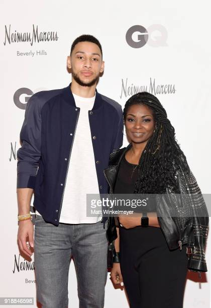 NBA player Ben Simmons and Neiman Marcus VP of Mens Sportswear Twana Brown attend Neiman Marcus x GQ All Star Weekend Event with Ben Simmons at...