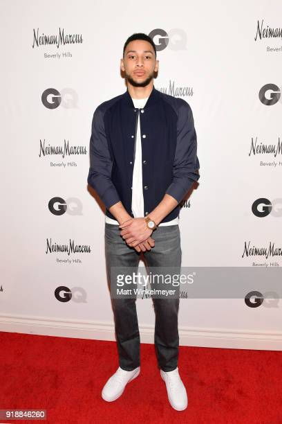 NBA player Ben Simmons attends Neiman Marcus x GQ All Star Weekend Event with Ben Simmons at Neiman Marcus on February 15 2018 in Beverly Hills...