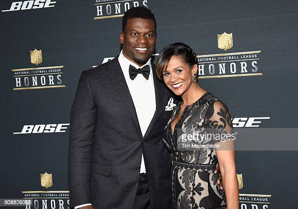 NFL player Ben Watson and guest attend the 5th Annual NFL Honors at Bill Graham Civic Auditorium on February 6 2016 in San Francisco California