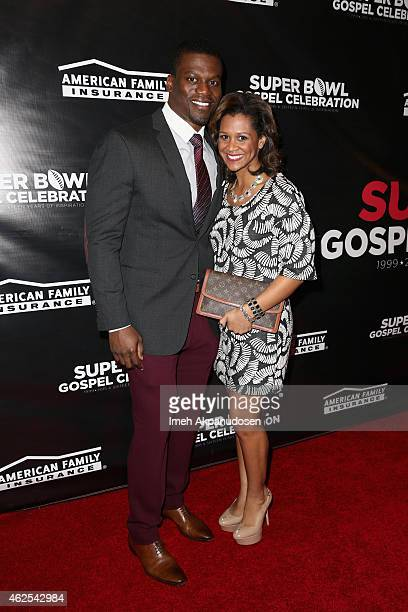 NFL player Ben Watson and Kirsten Watson attend the 16th Annual Super Bowl Gospel Celebration at ASU Gammage on January 30 2015 in Tempe Arizona