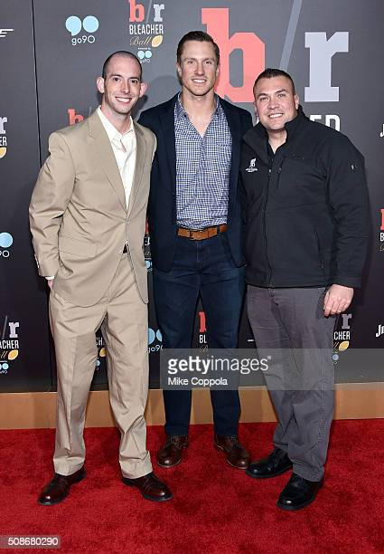 NFL player Blaine Gabbert with guest military veterans attend Bleacher Report's 'Bleacher Ball' presented by go90 at The Mezzanine prior to Sunday's...