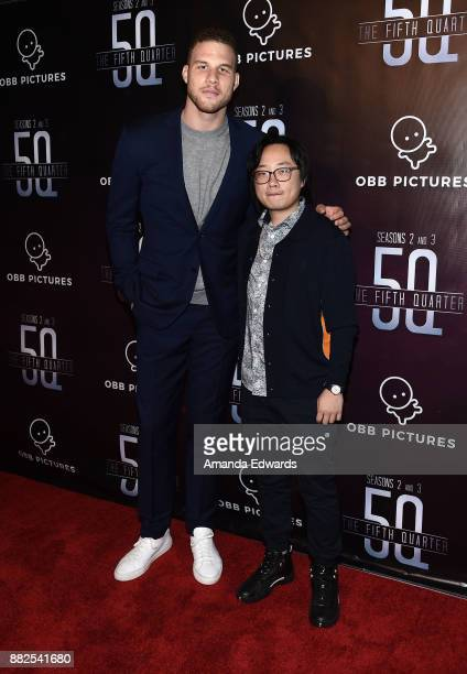 """Player Blake Griffin and actor Jimmy O. Yang arrive at the premiere of OBB Pictures and go90's """"The 5th Quarter"""" at United Talent Agency on November..."""
