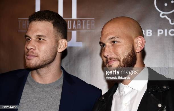 "Player Blake Griffin and basketball player Taylor Griffin arrive at the premiere of OBB Pictures and go90's ""The 5th Quarter"" at United Talent Agency..."