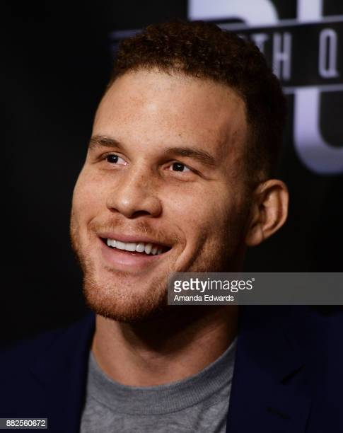 "Player Blake Griffin arrives at the premiere of OBB Pictures and go90's ""The 5th Quarter"" at United Talent Agency on November 29, 2017 in Beverly..."