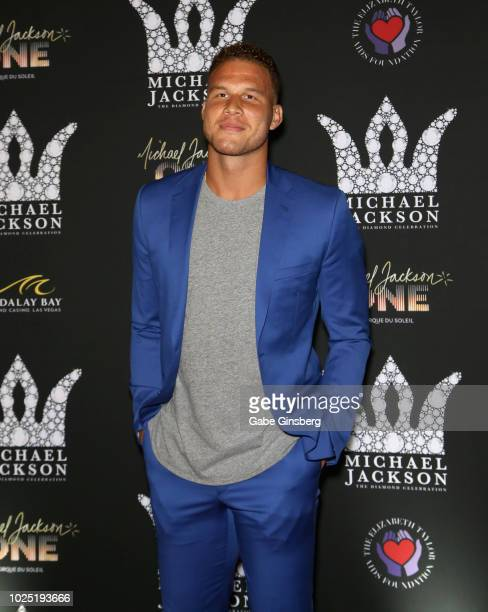 Player Blake Griffin attends the Michael Jackson diamond birthday celebration at Mandalay Bay Resort and Casino on August 29, 2018 in Las Vegas,...