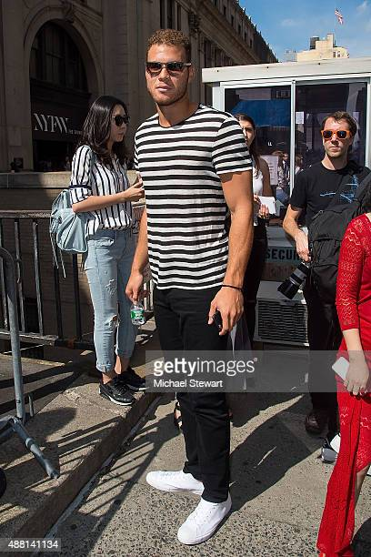 NBA player Blake Griffin is seen in the Garment District on September 13 2015 in New York City